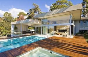 Симпатичный дом в Сиднее с прозрачным фасадом