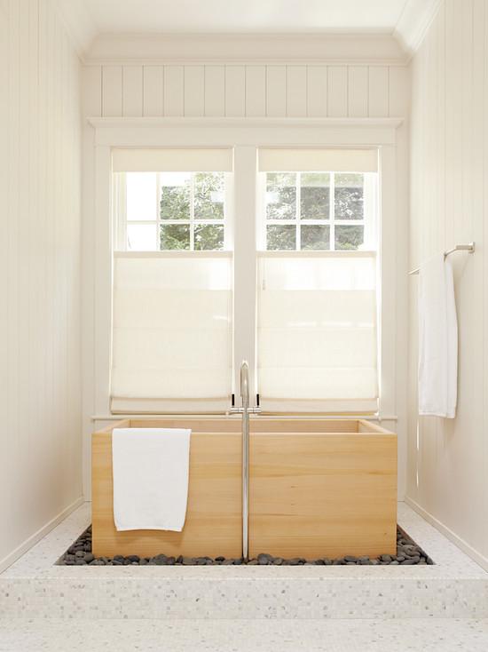 Римские шторы в ванной комнате