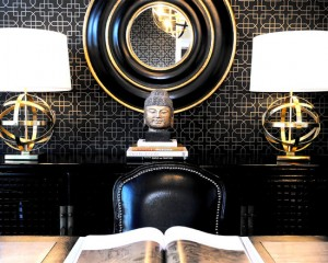 Черно-золотой стиль интерьера