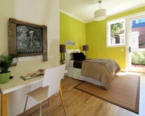 Салатовая спальня для ребенка