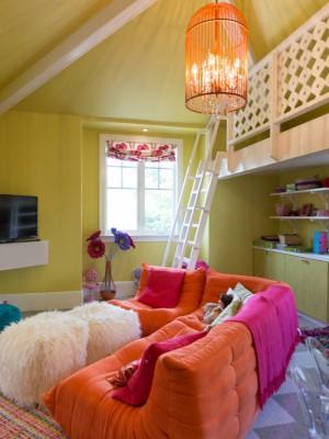 Модерн в детской комнате для девочки