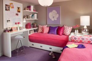 Угловой диван в деткой комнате
