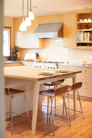 Интерьер эко кухни в скандинавском стиле