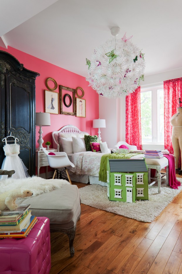Комната девочки подростка в розово-белых тонах
