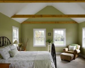 Салатовая комната в деревенском стиле