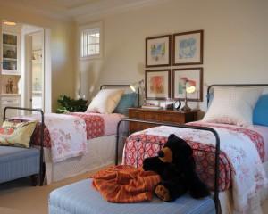 Стиль прованс в комнате для двух дочек