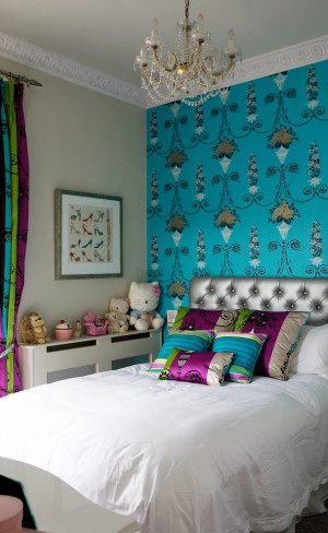 Серебрено-синий цвет в оформлении детской комнаты
