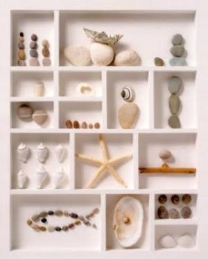 Коллаж из морских камушек