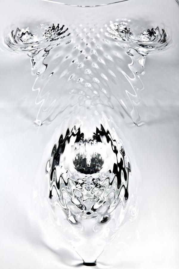 Жидкий стеклянный стол 6