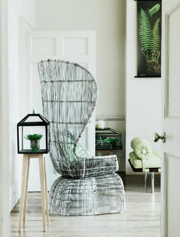 Вязанное из древесины кресло
