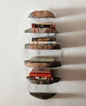 Полки для книг из резанных камней