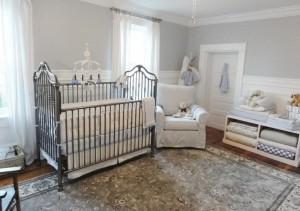 Детская комната во Французском стиле с детской кроваткой