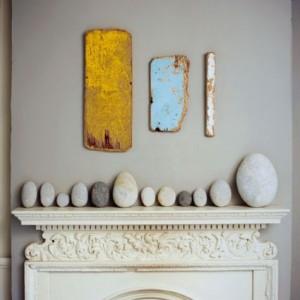 Декор квартиры камнями