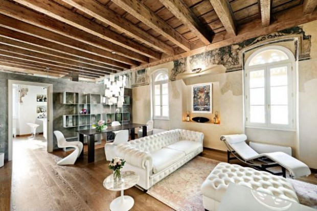 Эклектичный интерьер дома в Италии