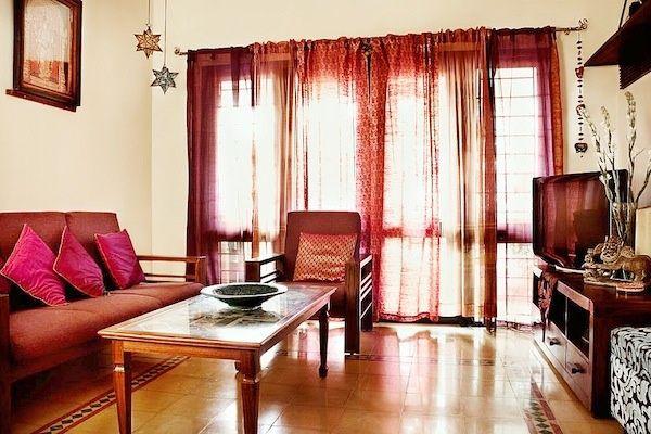 Сказочная гостиная в индийском стиле