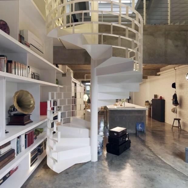 Квартира в индустриальном стиле 5