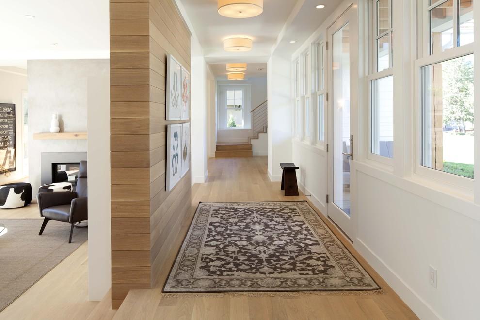 Ламинат в интерьере фото коридор