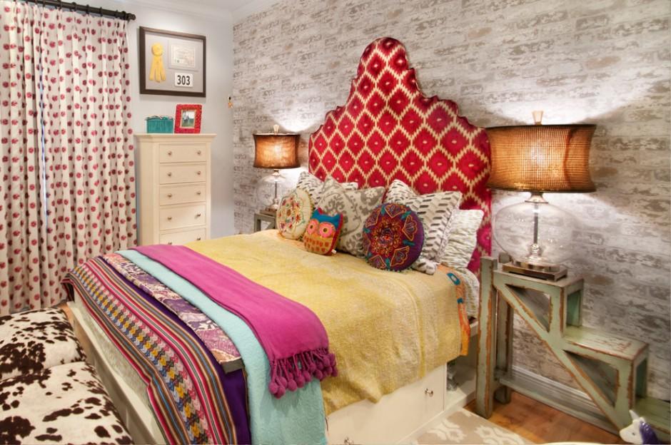 Гламурная спальня в бохо стиле