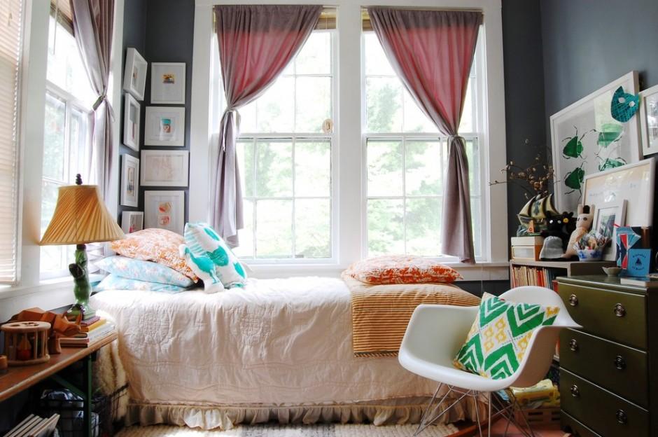 Современная спальня в стиле бохо
