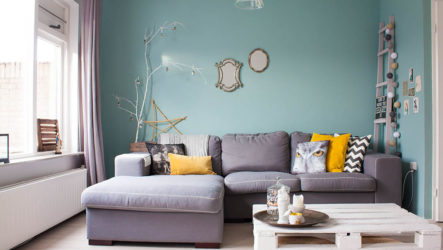 Бирюзовая гостиная – душа дома