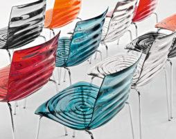 Прозрачные стулья: красиво, практично и ярко