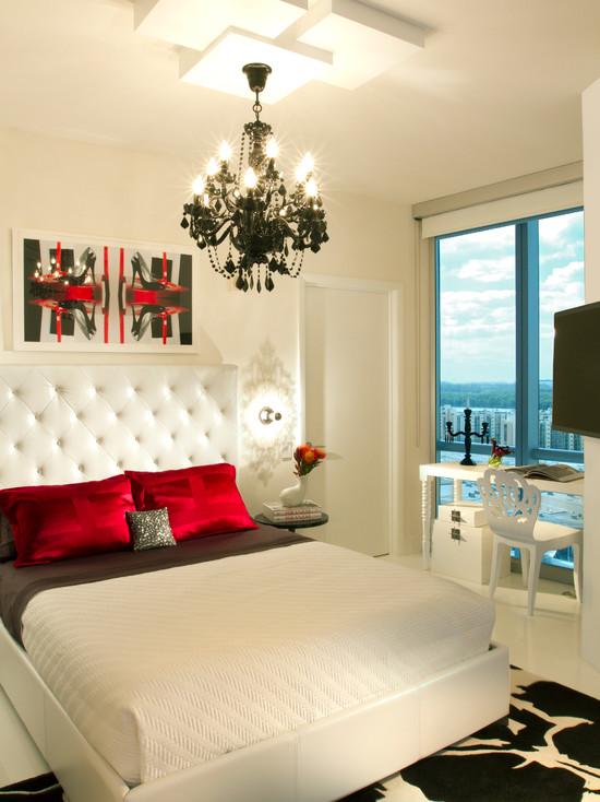 Шикарная спальня в хай тек стиле