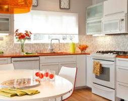 Кухня оранжевого цвета — позитивное настроение при любых обстоятельствах