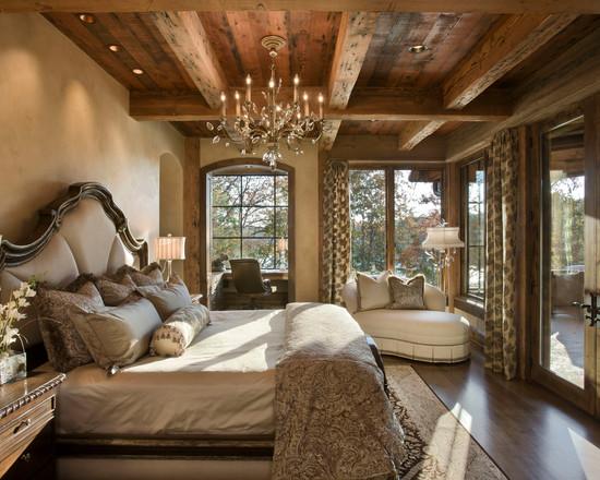 Шикарная спальня в деревенском стиле