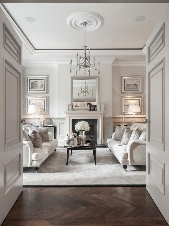 Светлая гостиная в итальянском стиле