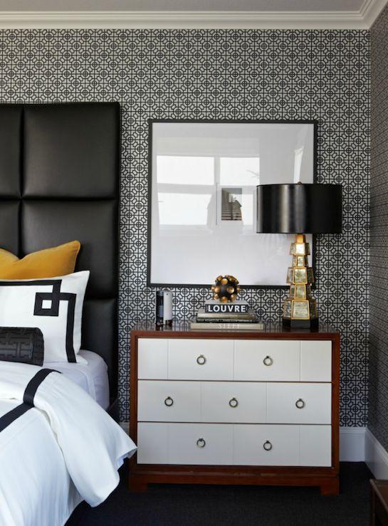 Черные обои для стен в спальню