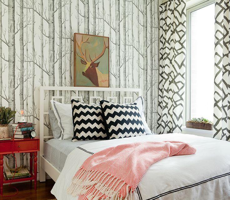 Комната в стиле дикого леса