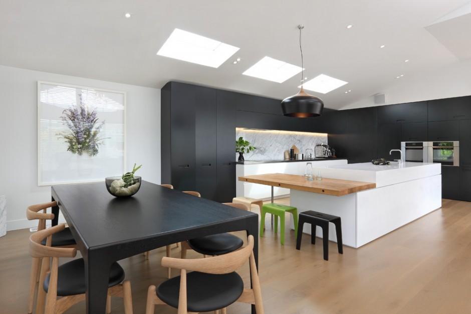 Черно-белая кухня в стиле футуризм