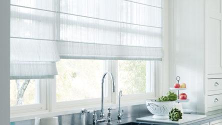 Римские шторы на кухню: великолепный внешний вид, простота и практичность