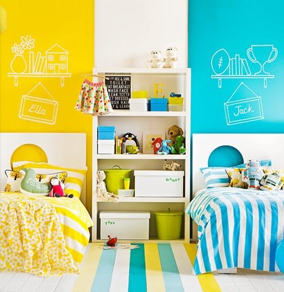 Цветовое разделение пространства для двух детей