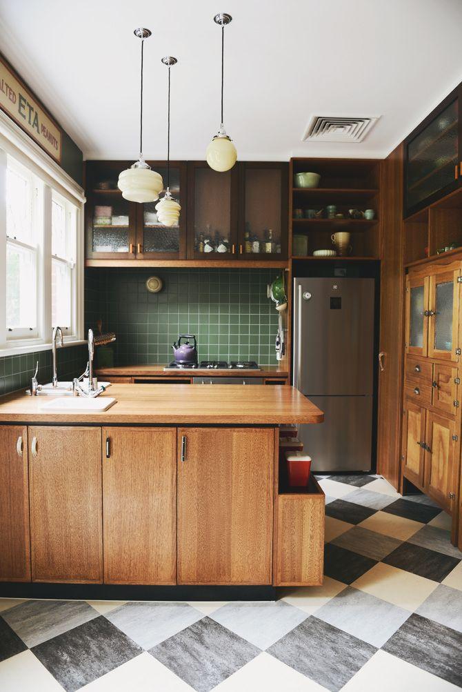 Дизайн кухни 8 кв м в ретро стиле