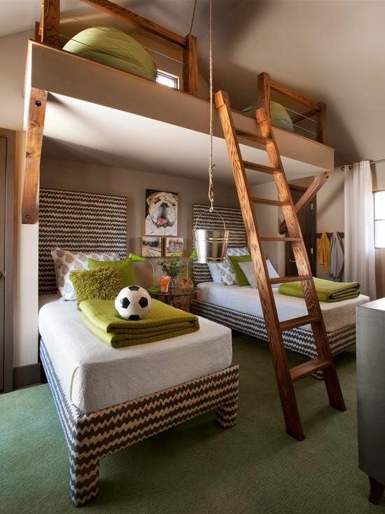 Стилистически оформленная детская комната