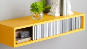 Bright-Yellow-Floating-Shelf