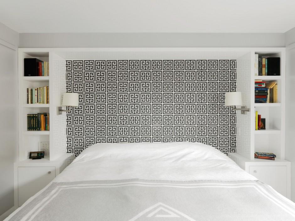 Черно-белое основание кровати