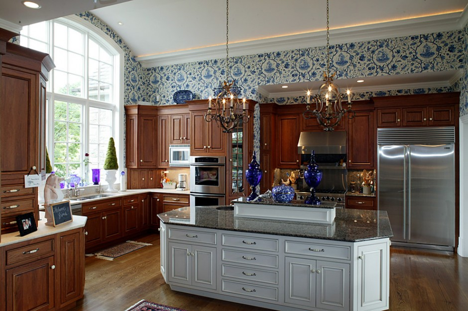 Оформление стен кухни в Английском стиле