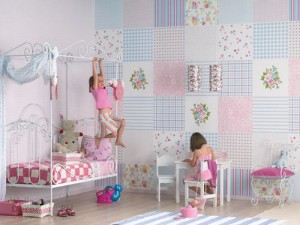 kids-room-wall-decor-ideas-patchwork-style-modern-wallpaper