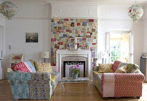 patchwork-wall-decoration-fireplace-living-room