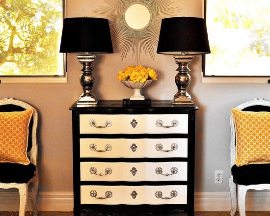 Черно-белая спальня - 61 фото интерьеров