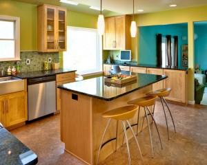 Кухни в зеленом цвете - 80 фото интерьеров!