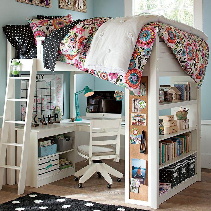 Детская кровать над рабочим столом
