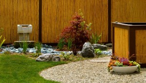 Gorgeous-Japanese-garden-encased-in-a-fence-of-Bamboo-goodness