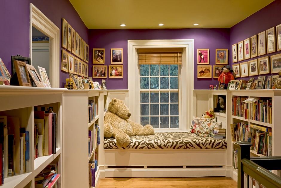 Детская с большим количеством книг