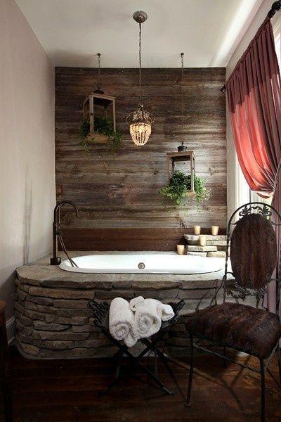 Искусственный камень в оформлении ванной комнаты
