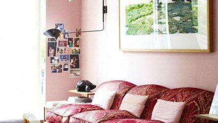 Розовая нежность в интерьере гостиной