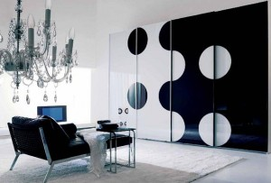 Black-and-White-living-room-design-with-Yin-and-Yang-symbols