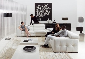 Black-and-white-living-room-decoration